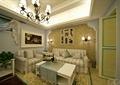 客廳,吊燈,沙發,茶幾,背景墻,燈飾