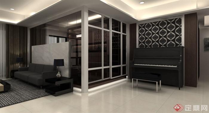钢琴放在客厅效果图