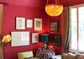 客厅,沙发,茶几,吊灯,照片墙,台灯,落地灯