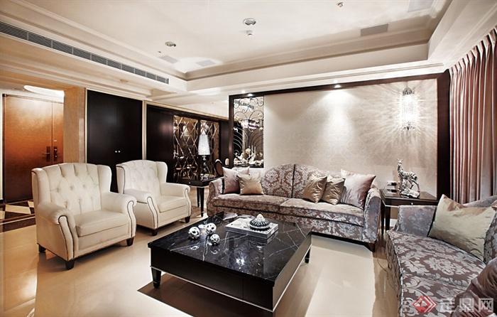 多款客厅家装图册-沙发茶几背景墙-设计师图库