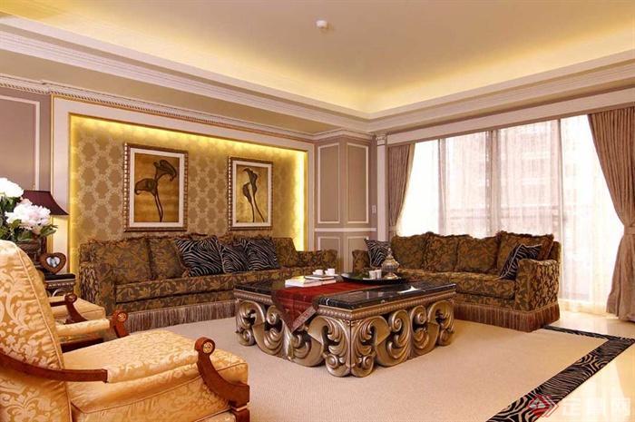 多款客厅家装图册-客厅沙发茶几背景墙-设计师图库