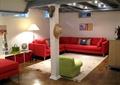客廳,沙發,茶幾,柱體,背景墻,燈飾
