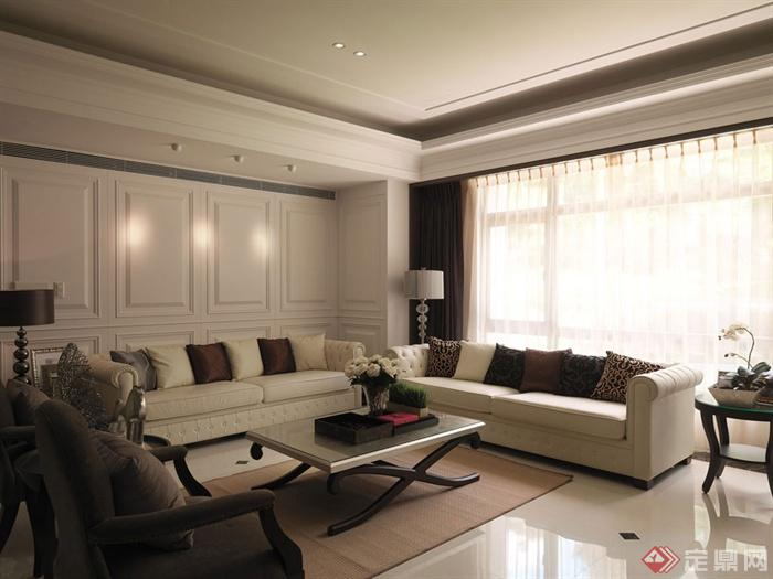 13张多种风格客厅实景图-客厅沙发茶几背景墙-设计师