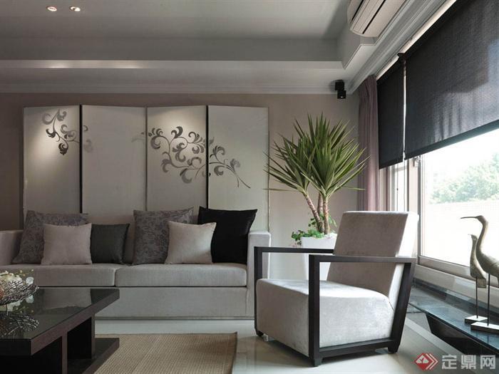客厅沙发背景墙装修效果图-客厅沙发茶几背景墙-设计