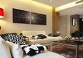 客厅,沙发,茶几,插画摆件,壁画,台灯,背景墙