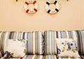 客厅,沙发,墙饰,置物架