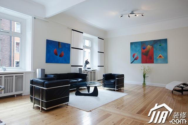沙发背景墙装修效果图-客厅沙发茶几装饰画-设计师