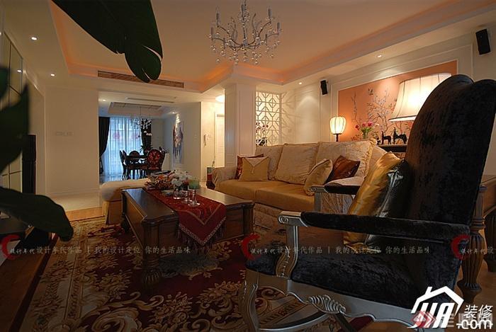 客厅,沙发,茶几,吊灯