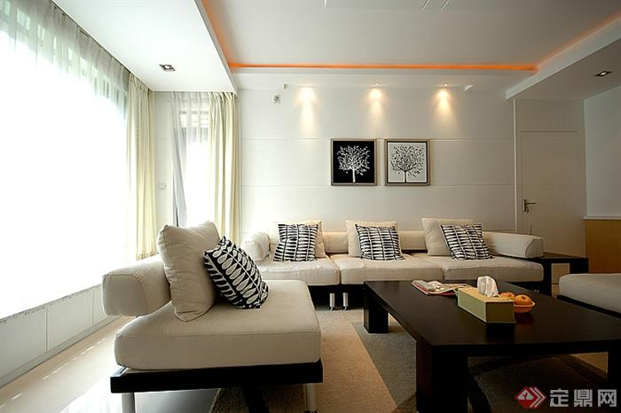 沙发,茶几,背景墙