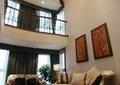 客厅,沙发,茶几,吊灯,地毯,装饰画,栏杆
