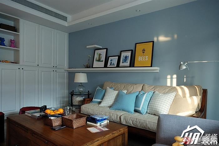 客厅,沙发,茶几,陈设架