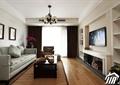 客厅,沙发,茶几,吊灯,电视墙,壁炉