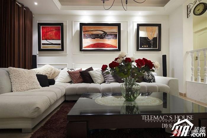 沙发背景墙装修效果图75