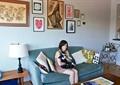 客厅,沙发,茶几,柜子,台灯,装饰画,背景墙