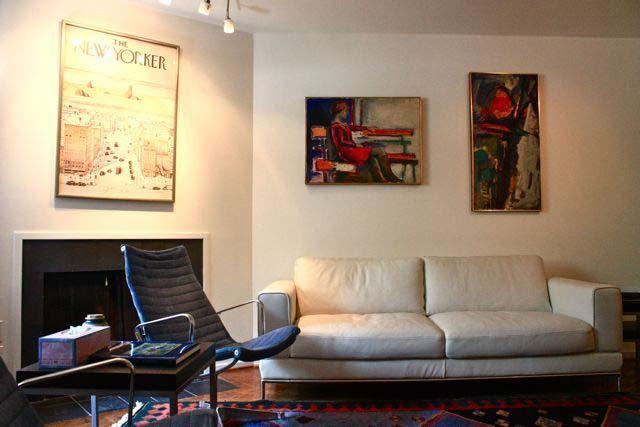 沙发背景墙装修效果图-客厅沙发椅子装饰画背景墙-师