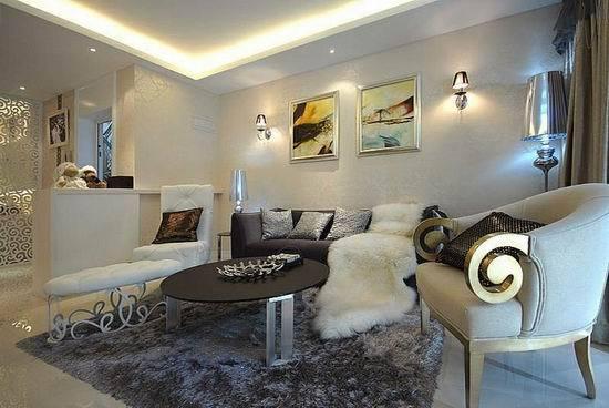 多个客厅沙发背景墙装修设计图片-客厅沙发茶几装饰