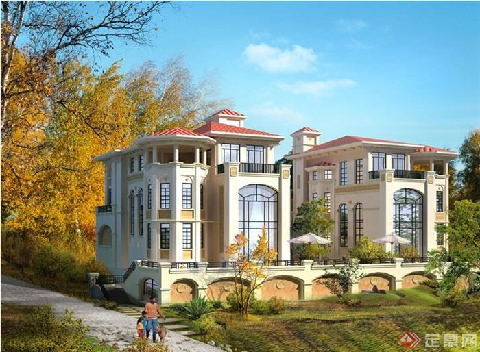 四张别墅自建房效果图