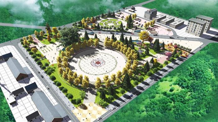 某现代广场景观设计su模型[原创]