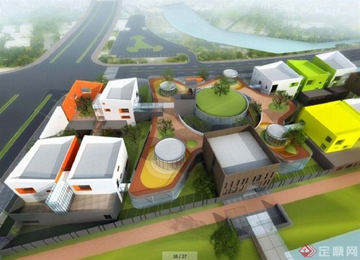 浙江宁波某现代风格幼儿园建筑设计(含效果,方案,实景)