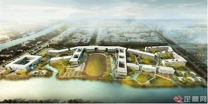 宁波某国际学校建筑设计效果图