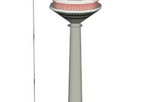 欧罗巴电视塔建筑设计SU(草图大师)模型