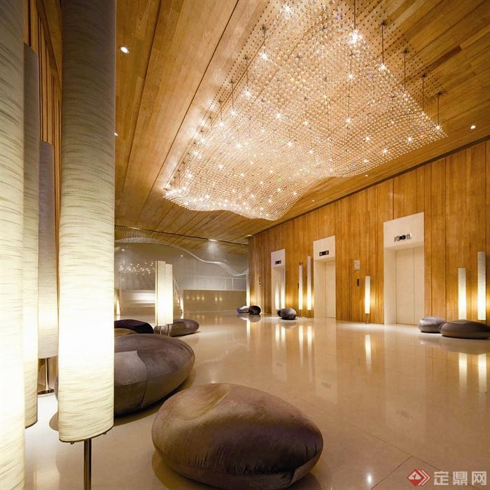 国外某酒店室内设计-酒店大堂-设计师图库