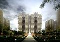 住宅楼,居住建筑,高层住宅,喷泉,水景,住宅景观