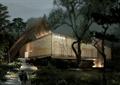 茶室,餐饮建筑,台阶,植配,特色建筑