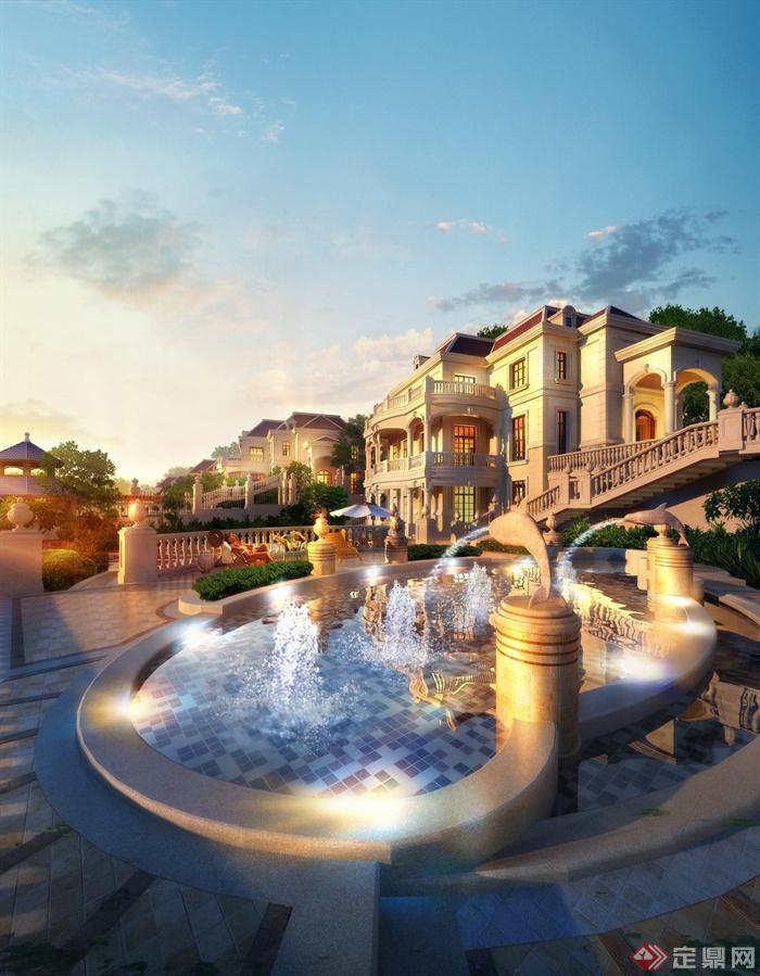A大连西郊图片景观设计公寓-水池水景喷泉公馆酒店式别墅公馆有没有厦门图片