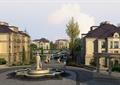 住宅景观,雕塑,水池,喷泉,水景,住宅建筑