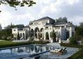 别墅,别墅建筑,别墅景观,庭院,庭院景观,水景