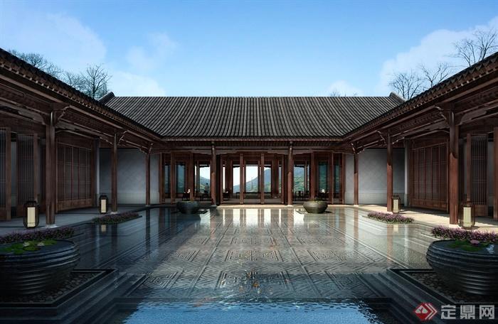 绿城安吉悦榕庄-古建酒店旅游区-设计师图库