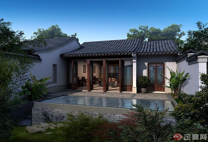 绿城安吉悦榕庄-古建酒店旅游建筑水池-设计师
