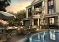 别墅,别墅建筑,庭院,庭院景观,水景,别墅景观