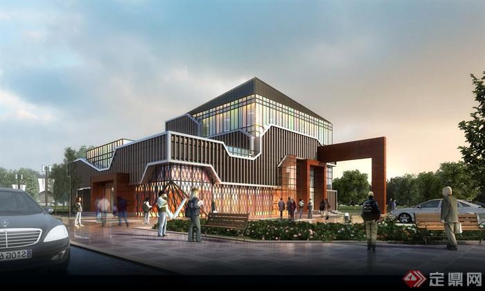 会所建筑设计效果图-会所会所建筑商业建筑商业会所