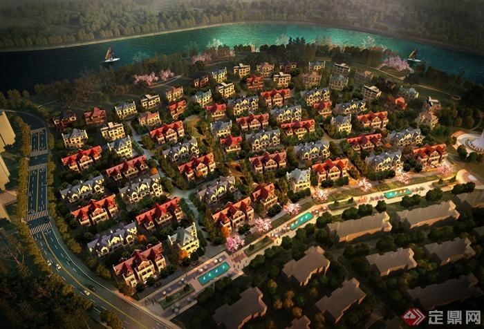武汉新城汉南绿地项目-别墅区住宅小区景观规米长14X10别墅米图片