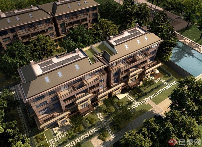 扬州万科别墅区景观设计图集-庭院景观别墅水体-设计