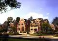 别墅,住宅建筑,住宅景观,道路,围墙