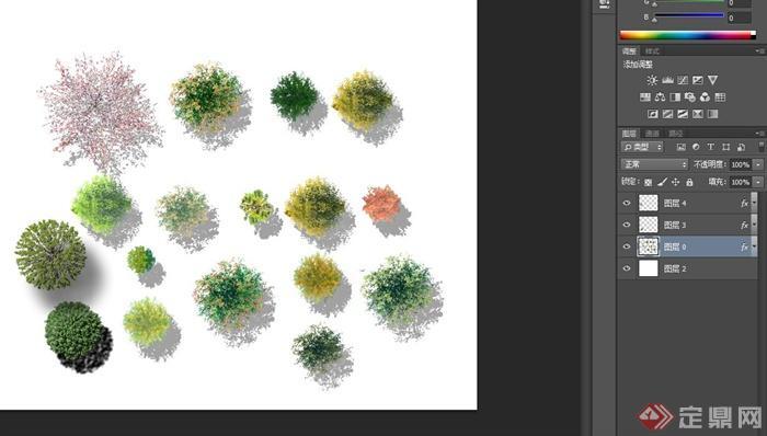 多款立体树平面设计psd格式素材(2)