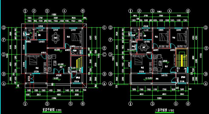 建筑设计,建筑平面,户型图