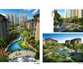 住宅景观,中心溪流,中心水景,儿童活动区