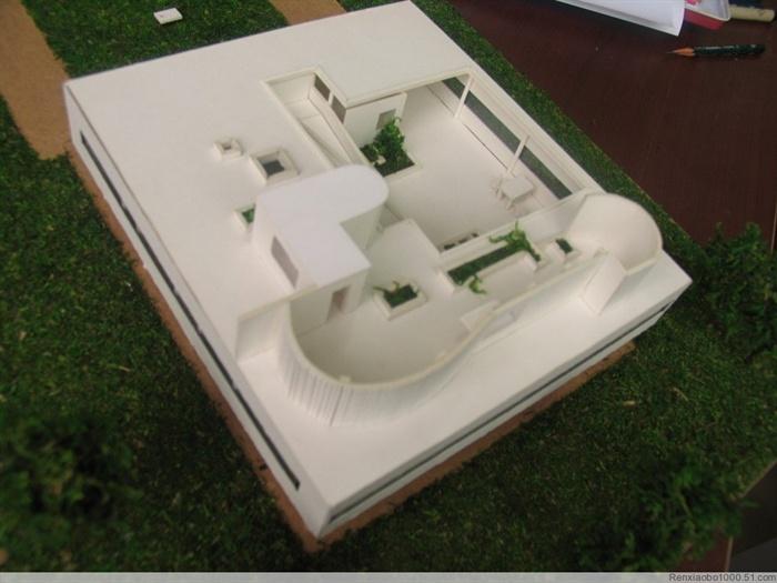 萨伏伊别墅别墅手工照片[原创][VillaSavoyma沙太路模型图片