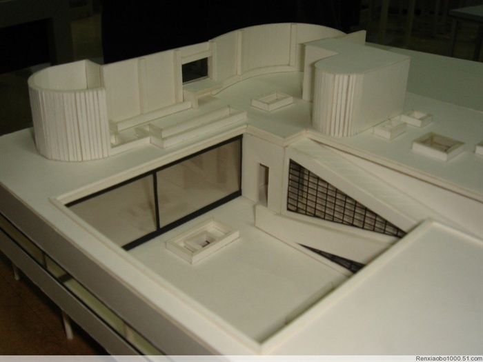 萨伏伊远洋模型别墅照片[原创]隆手工别墅东图片