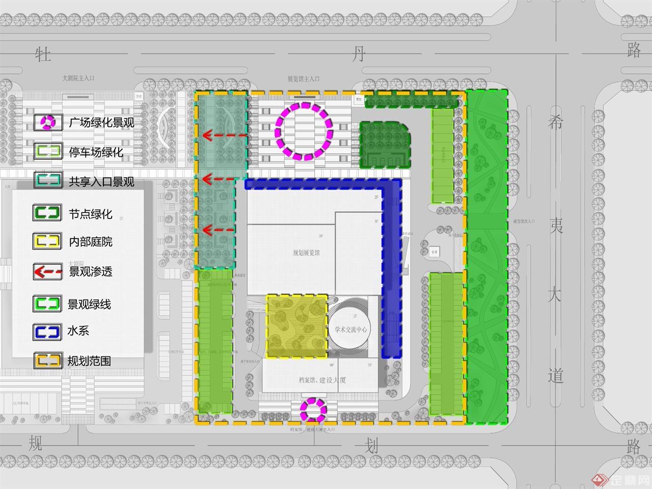 城市展览馆设计图快题展示