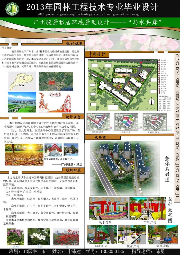 现代风格居住区景观设计展板方案[原创]