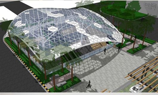 合肥某地下商场空间设计