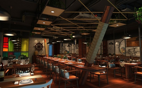 宁波某餐厅室内设计