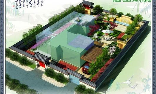 山水草堂73号庭院景观工程