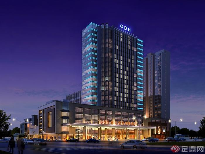 酒店建筑设计效果图-酒店酒店建筑高层酒店-设计师