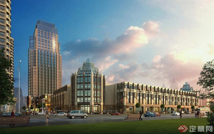 商业街,商业楼,商业建筑,综合建筑